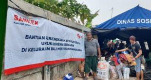 Sanken Dan Aqua Danone Peduli Korban Kebakaran Bali Mester Dan Rawa Bunga