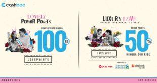 "Di Bulan Kasih Sayang Cashbac Berikan Promo ""LUXURY LOVE"" Rewards Hingga 300.000"