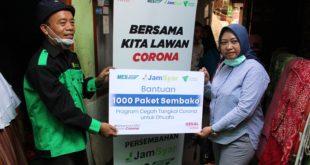 Bentuk Program Cegah-Tangkal Corona, Jamkrindo Syariah Serahkan Bantuan 1.000 Paket Sembako Untuk Dhuafa