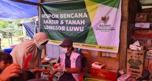 Cepat Tanggap, Baznas Bantu Tiga Wilayah Banjir Bandang  di Kabupaten Luwu Sulsel